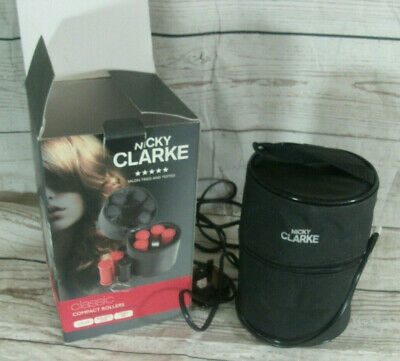 Nicky Clarke Classic Style Compact Heated Hair Travel Rollers Curlers Boxed VGC