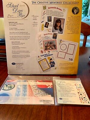 """NEW Creative Memories """"School Days"""" Scrapbook Pages 12x12"""" 15 sheets & Die- Cuts"""