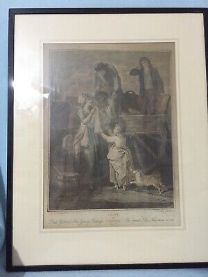 "'Cries Of London'  ""Fresh Gathered Peas Young Hastings"" Litho Print 1800's"