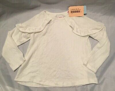 New Toddler Girls Cat & Jack Almond Cream Cozy Pullover Shirt Top Size 5T
