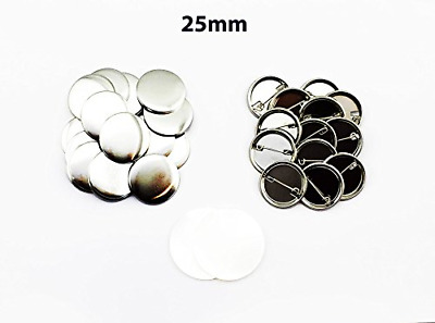 ChiButtons 25mm Metal Pin Badge Round 500Sets Metric System