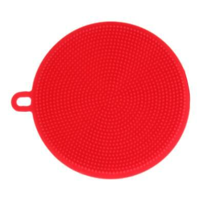 Silicone Dish Bowl Cleaning Brushes Scouring Pad Pot Pan Wash Brushes Red  NIGH