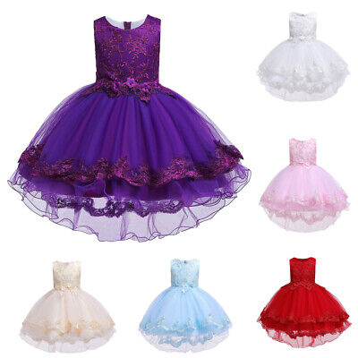 Kids Baby Girls Princess Tutu Dress Ball Gown Flower Wedding Party From Dresses
