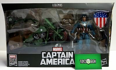Marvel Legends 80 Years Ultimate Captain America with Motorcycle Action Figure