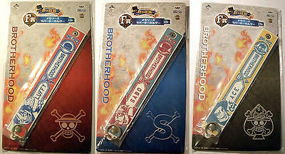 3 Memories Rubber Key Chain Schlüsselanhänger Anime One Piece Luffy + Sabo + Ace