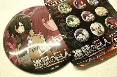 Mikasa BIG button Attack on Titan Shingeki no Kyojin bandai Kodansha Japanimport