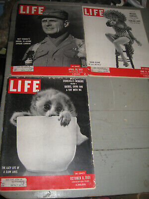 Lot Of 3 Life Magazines 1951 Teenage Dope & More!! Great Ads!!