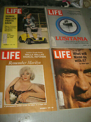 Lot Of 4 Life Magazine Remembering Marilyn Nixon Wallace Recovery & More