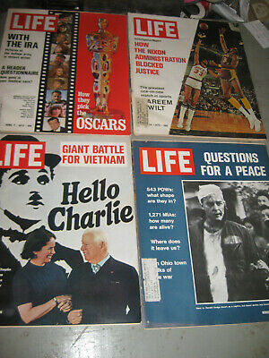 Lot Of 4 Life Magazine 1972 In Very Good Condition! Oscars / Battle For Vietnam