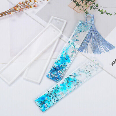 Rectangle Silicone Bookmark Mold DIY Making Epoxy Resin Jewelry DIY Craft Mould