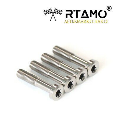 M8x40mm Titanium Fits KTM Rear Rack Pan Torx head screws 4pcs Kit P/N:0035080406