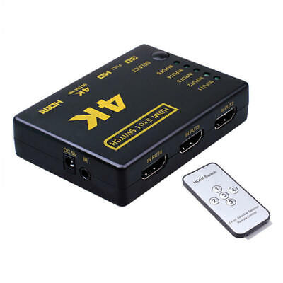5Port 4K HDMI Switch Switcher Selector Splitter Hub +IR Remote For HDTV 10 YCC