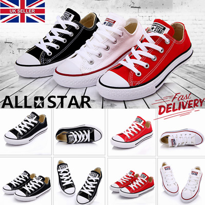 Classic Chuck Taylor Boys Girls High Trainer Sneaker All Stars OX NEW Size Shoes