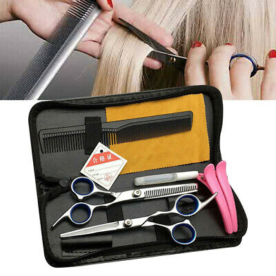 "6PCS 6"" Salon Hairdressing Scissors Set Hair Barber Shears Cutting Thinning Tool"