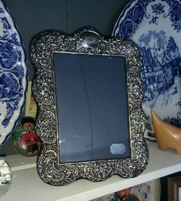 """Vintage hallmarked Sterling Silver Fronted Photo Frame (8"""" by 6"""") 1994"""