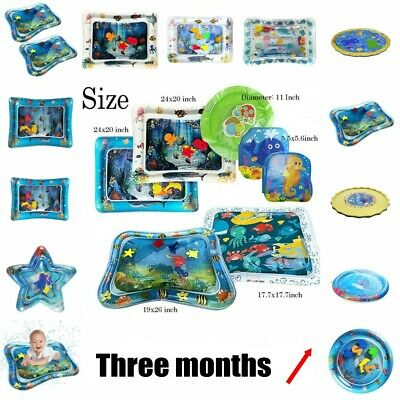 Inflatable Water Mat For Baby Infant Toddlers Mattres Splash Playmat Tummy Time