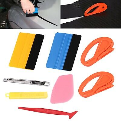 Perfect Car Wrap Micro Squeegee Gasket Vinyl Wrapping Install Tools Kit UK