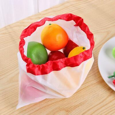 Washable Reusable Produce Bags Mesh Vegetable Fruit Toys Storage Pouch Organizer
