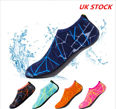New Mens Womens Non Slip Swim Wetsuit Shoes Water Aqua Socks Beach On Surf M-XXL