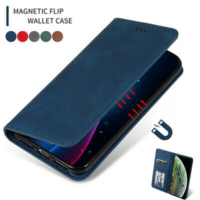 For iPhone 11 Pro Max XS XR 6 7 8 Plus Flip Leather Wallet Card Slot Case Cover