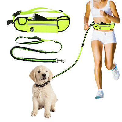 Adjustable Hands Free Leash Dog Pet Lead Waist Bag For Jogging Walking Running