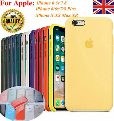 Genuine Original Hard Silicone Case Cover For Apple iPhone XR XS MAX 8 7 6 Plus