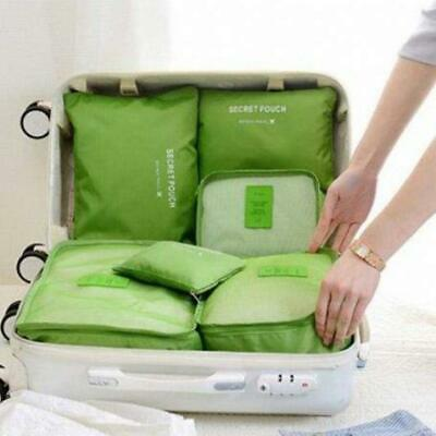 6PCS Waterproof Travel Storage Bags Clothes Packing Cube Luggage Organizer Best