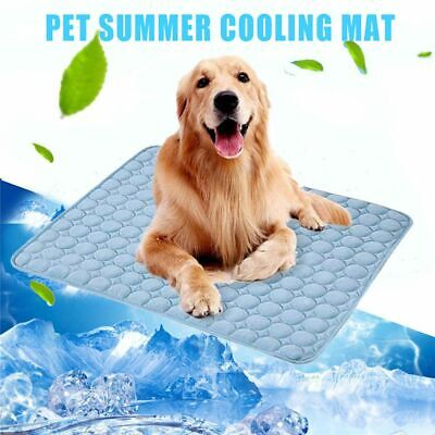Pets Summer Cooling Chilly Blanket Mat Cool Pad Bed Dog Heat Relief Cushion Mat