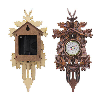 Vintage Cuckoo Clock Forest Quartz Swing Wall Alarm Handmade Room Decor ☆