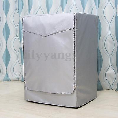 Washing Machine Dryer Cover Zippered Roller Dustproof Sunscreen Waterproof