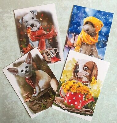 Vintage Dogs Card Making Topper High Gloss - Crafts (7