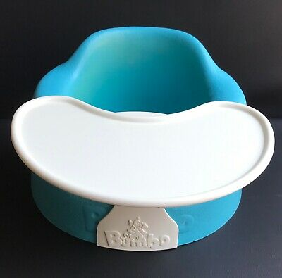 Babys Blue Child Bumbo Seat Floor Booster,Tray,Feeding,With Tray