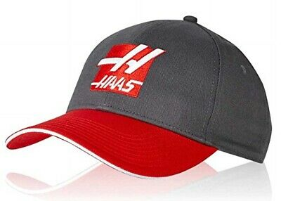 CAP Haas F1 Racing USA Formula One Team 1 Red Embroidered H Logo Dark Grey NEW!