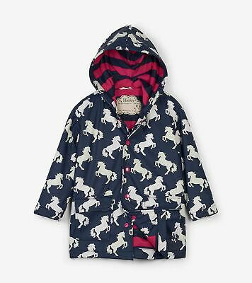 Hatley Playful Horses Colour Changing Waterproof Raincoat