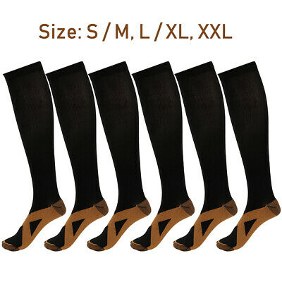 1 Pairs DVT Compression Socks Anti Fatigue Miracle Copper Comfort  Sport Unisex
