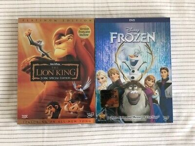 The Lion King & Frozen (Disney) DVD - FREE SHIPPING & RETURNS