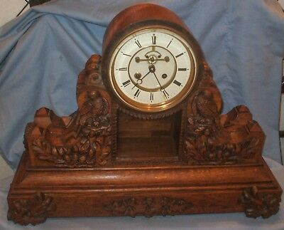 A Large, Carved Oak, French, 8 day striking Clock -  By Samuel Marti  - BARGAIN!