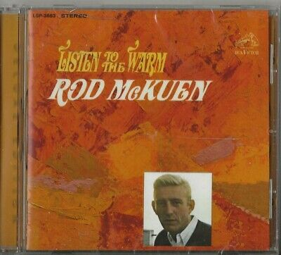 ROD McKUEN  LISTEN TO THE WARM (1967) - CD  SIGNED - BEAT POETRY - 2013