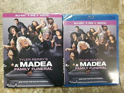 #NEW#Tyler Perry's A Madea Family Funeral (Blu Ray + DVD + Digital) w/ SLIPCOVER