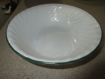 Callaway Corelle Enhancement White Swirl Green Ivy Round Serving Bowl