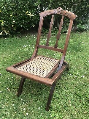 Antique 19th Century Folding Campaign Chair