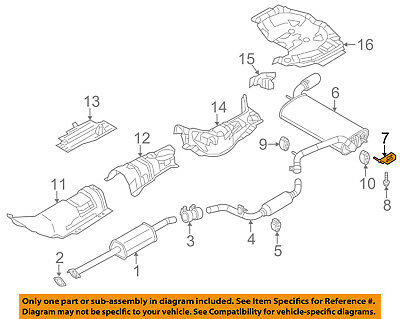 FORD OEM 15-18 Mustang 5.0L-V8-Exhaust Bracket-Rear Right JR3Z5260B