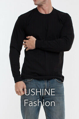 Pro long sleeve t shirt  Heavy Weight plain crew neck t-shirts   Made in USA