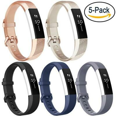for Fitbit Small, 001, 5PC(Champagne Gold+Rose Gold+Black+Navy Blue+Gray)