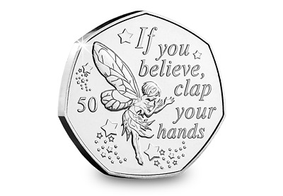 2019 Isle of Man Tinkerbell - Peter Pan 50p coin - Uncirculated