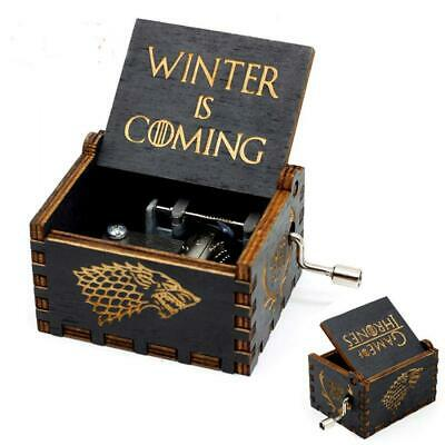 Levanco Game of Thrones Wood Muisc Box,Antique Carved Wooden