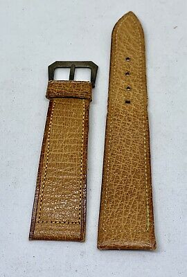 Vintage NOS 2 Tone Brown Watch Band W/ Rare Sterling Silver Buckle 4 Chrono
