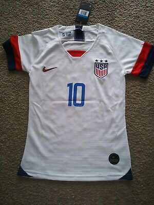 Carli Lloyd #10 Usa 2019 World Cup Us Women's White Womens Soccer Jersey + Patch