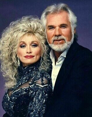 Dolly Parton Kenny Rogers Unsigned 8x10 Photo (C)