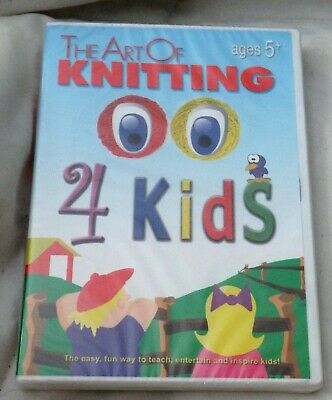 The Art of Knitting for Kids (DVD, 2007, Tricoast Studios) NEW